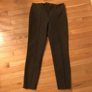 Theory army camp green side zip skinny pants 6